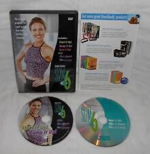 Debbie Siebers Slim in 6 Fitness DVD Set 2 DVDs 7 Workouts With Bonus