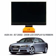 AUDI A4 B6/B7 LCD MONOCROMATICO Display Lcd & Cavo NASTRO RICAMBIO - NUOVO