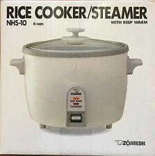 ZOJIRUSHI NHS-10 6-Cup Rice Cooker/Steamer and Warmer, White New in Box