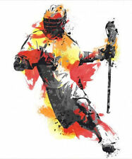 """LACROSSE PLAYER wall stickers MURAL 9 decals 37"""" men boy sports party decoration"""