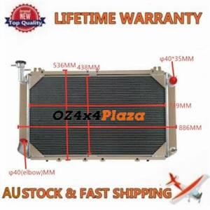3ROW Alloy Radiator For Nissan Patrol GQ/Y60 3.0L PETROL TD42 2.8/4.2L Diesel MT