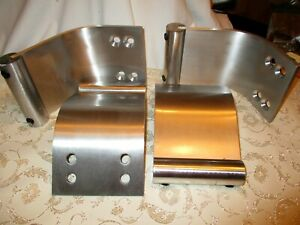 4 Wide Curved Silver Metal Legs for Sofa 2 Tier Coffee Table Dresser Set