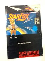 Star Fox Super Nintendo Instruction Manual Booklet NO SNES GAME FREE SHIPPING