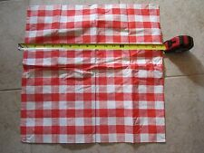 Fisher Price Fun with Food kitchen table cloth tablecloth red checker picnic toy