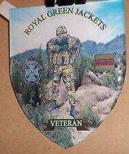 ROYAL GREEN JACKETS DOMED SHIELD VINYL STICKER..