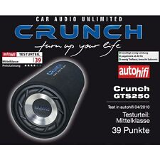 Crunch Gts-250 Crunch Tube-Subwoofer Gts250 Mm Tube-Subwoofer 250 Watt RMS 25 Cm