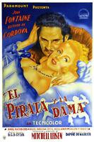 Frenchman's creek Basil Rathbone vintage movie poster print 2