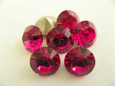 6 Fuchsia Foiled Swarovski Crystal Chaton Stone 1088 39ss 8mm Chatons