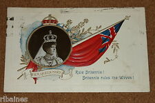 Vintage Postcard: H.M Queen Mary, Rule Britannia, Davidson Bros