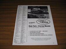 1964 Print Ad Land Rover Plows Through Mud