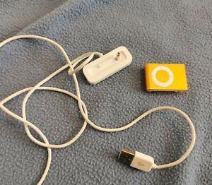 Ipod Shuffle Orange With Charging Port 2nd Generation
