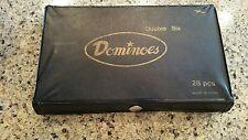 Dominoes Double 6 Six Standard Size Ivory Tile Set Of 28 Pcs Vinyl Case