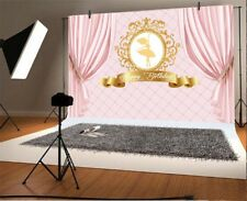 Vinyl Happy Birthday Backdrop 7x5ft Pink Princess Birthday Party Background