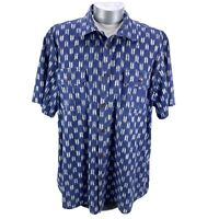 Northwest Territory Button Up Shirt Short Sleeve Blue White Mens Size XXL Cotton