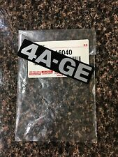 AE86 AW11 FX16 4A-GE OEM GENUINE TOYOTA ENGINE BADGE DECAL 4AGE