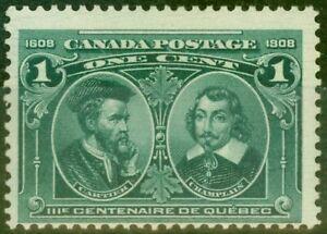 Canada 1908 1c Blue-Green SG189 Fine Lightly Mtd Mint