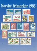 Norway 1985 UNUSED Assorted Norway Stamps Illustrated Post Card Ref 45744