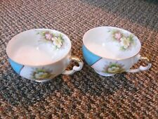 old vintage set Lot 2 Ucagco China Occupied Japan tea cups flowers kitchen