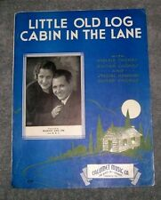 Vintage Sheet Music Little Old Log Cabin In The Lane by Will S. Hays 1935