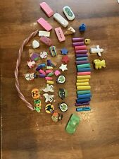 Large Lot Vintage Textured Foam Pencil Pen Grips Erasers Pencil Tops Used Cond