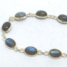 Labradorite Natural Not Enhanced Fine Gemstone Bracelets
