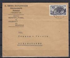 Schweiz Mi. 247 Umschlag von E. Kern-Rotzinger Bürstenfabrik Netstal (Int.1314)