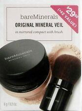 Bare Escentuals Original Mineral Veil Kit with Buffing Brush Retail Value $42