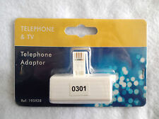 TELEPHONE 2 WAY ADAPTOR - PLUG IN TO HAVE AN EXTRA PHONE