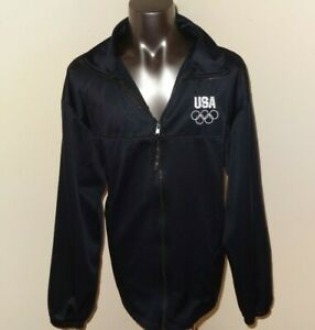 United States Olympic Committee Navy Blue Team USA Warm Up Track Jacket