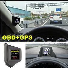 Universal HUD Car Head Up Display Car OBD GPS Speed Meter RPM Alarm System KM/H