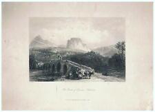 1850 CASSANO - CALABRIA - VEDUTA DEL CASTELLO von J.C. Bentley