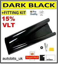 PRO ANTI-SCRATCH CAR WINDOW TINT FILM TINTING DARK BLACK  SMOKE 15% 76cm x 3M