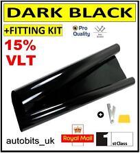 PRO ANTI-SCRATCH CAR WINDOW TINT FILM TINTING DARK BLACK  SMOKE 15% 76cm x 3M