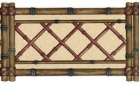 Bamboo Lattice Trellis Laser Die Cut Wallpaper border Country Kitchen Wall Decor