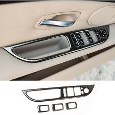 Car Door Armrest Panel Cover Trim Carbon Fiber For BMW 5 series E60 2008-2010