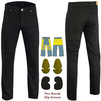 Mens Motorcycle Pants Black Denim Reinforced Jeans Made With DuPont™ Kevlar® AUS
