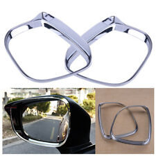 2pcs Chrome Side Door Rearview Mirror Rain Guard Cover Trim fit for Mazda CX-5