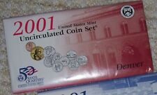1 -2001D  US MINT UNCIRCULATED 10 COIN SET - 5 STATE QUARTERS + 5 MORE COINS