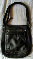 THE SAK black pebble Leather Cross-body Shoulder handbag