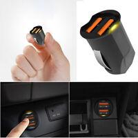 2.1A Mini Dual USB Car Charger adapter 2 Port 12-24V Cigarette Socket Lighter SL