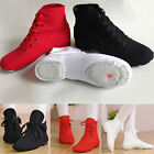 Men Women Boy Girl Canvas Jazz Shoes Ballet Dance Shoes Split Heels Sole Shoes