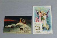 2 Ansichtskarten - Weihnachten - Grußkarten Glückwunsch - gelaufen 1906  /S138