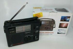 C. Crane CC Solar Observer Wind Up Solar Emergency Crank Radio with AM, FM,Weath