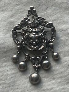 PERUZZI FLORENCE ITALY VINTAGE SIGNED STERLING BROOCH/PENDANT