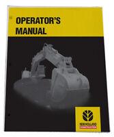 NEW HOLLAND EC35 Crawler Excavators Owners Manual Operators Maintenance Book