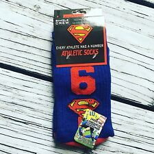 DC Comics Superman Crew Socks Super Hero Men Novelty Geek Number Calf Support
