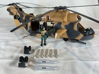 Vintage GI Joe 1986 Tomahawk Helicopter Almost Complete w/ Lift Ticket NO GLASS