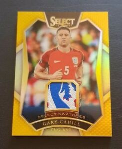 2016-17 Select Soccer Gary Cahill Gold England Swatches Logo Patch #/10