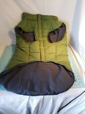Akini - Padded Dog Jacket, Green with Gray Size XXL for Great Danes & Large Dogs