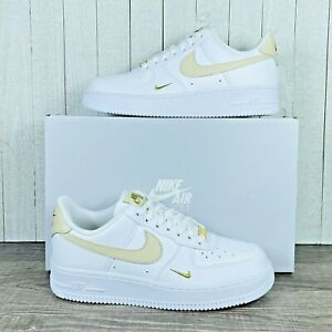 Wmns Nike Air Force 1'07 White Beige Gold Sneakers CZ0270-105 Women's Size 6-11